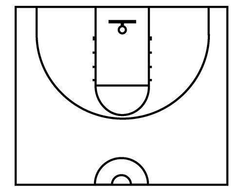 basketball court diagram printable