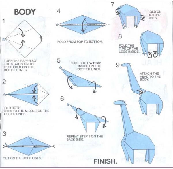 origami diagrams unicorn