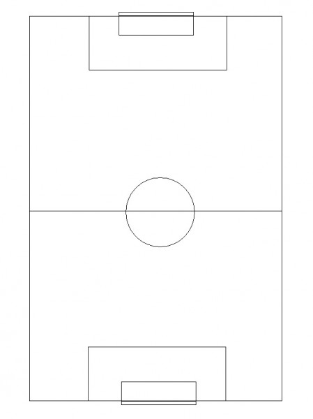 soccer field diagram with position