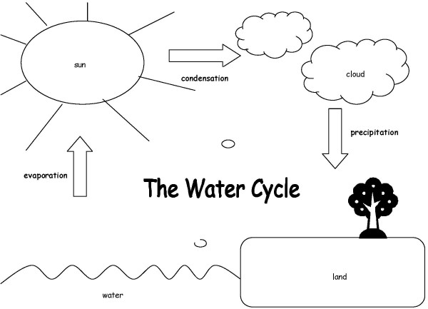 water cycle diagram worksheet
