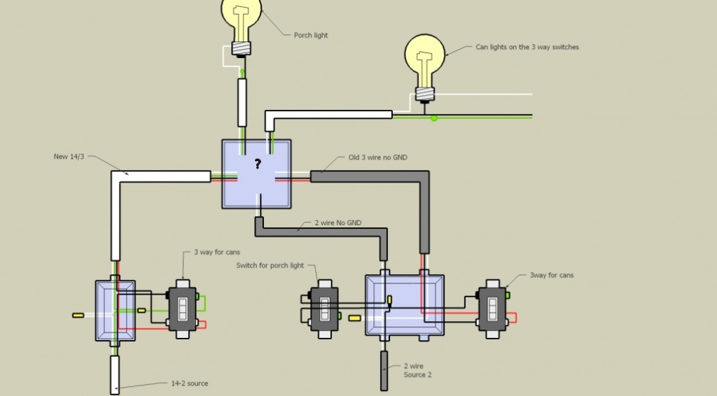 3 way switch diagram 2 lights