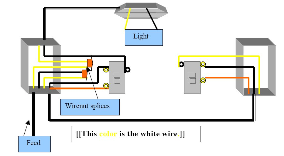 3 way switch diagram with multiple lights