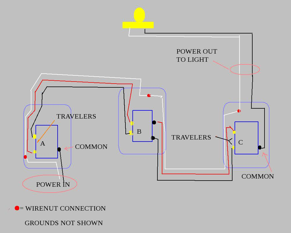 4 way switch diagram simple