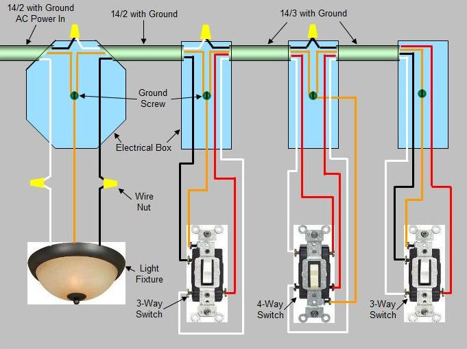 4 way switch diagram troubleshooting
