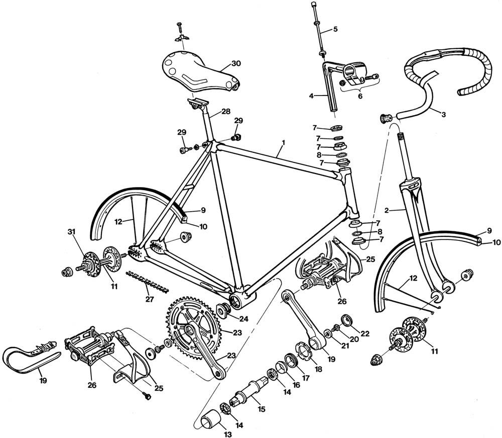 bicycle parts diagram 2