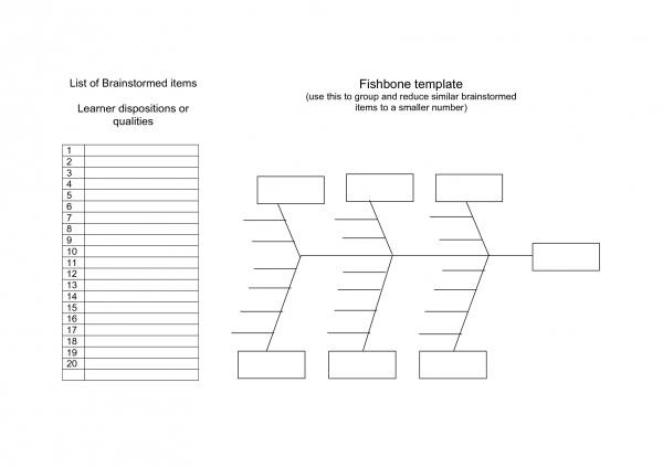 ishikawa diagram template free