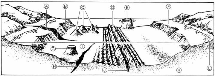 ocean floor diagram to label