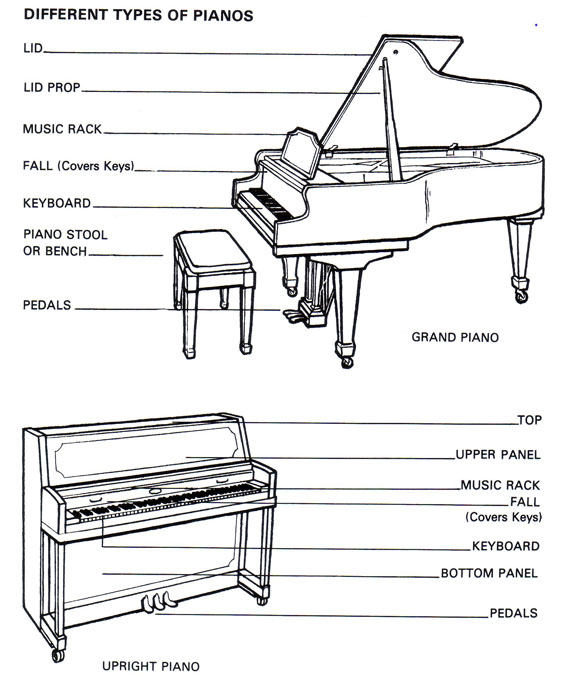 piano diagram with notes on it